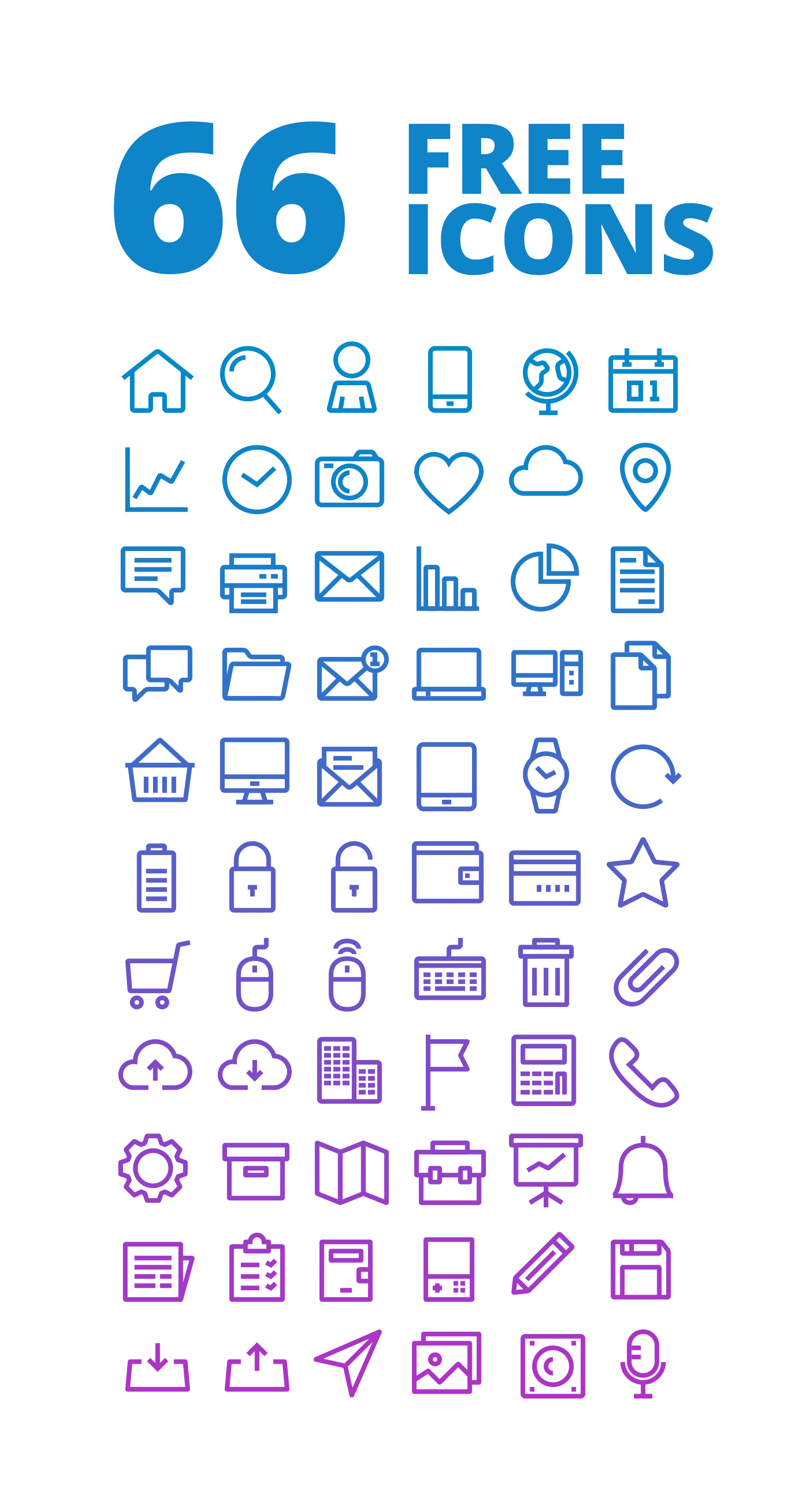 Free-Outlined-Icons-Set